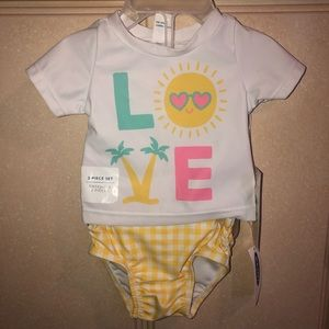 Baby Girl Old Navy Rashguard Set
